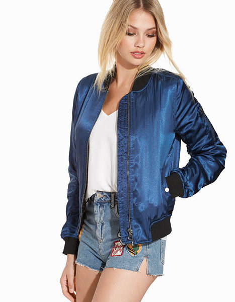 Shiny bomber jacket