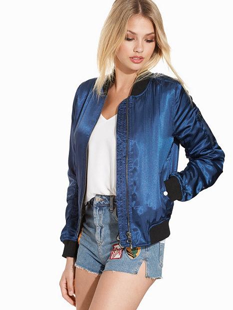 Shiny bomber jacket